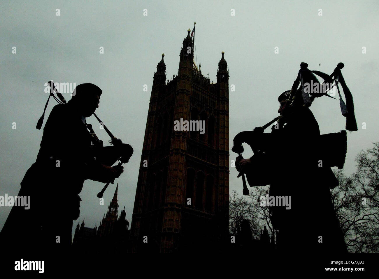 Save The Scottish Regiments candidate unveiled - Palace of Westminster - Stock Image