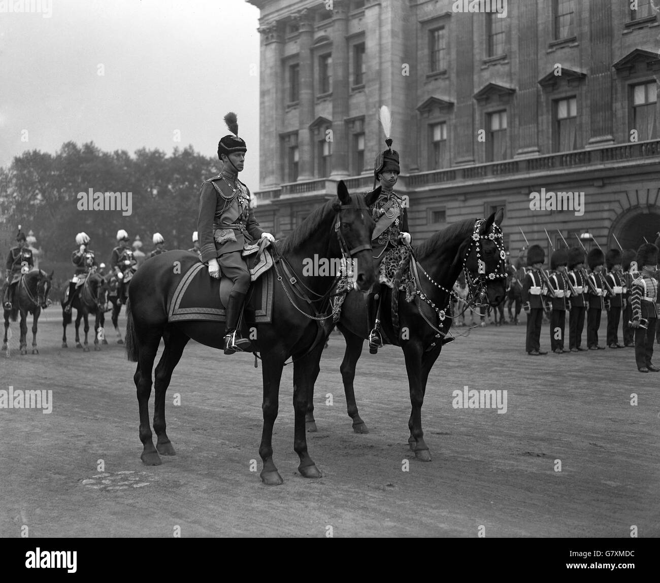 Royalty - Trooping of the Colour - Buckingham Palace Stock Photo