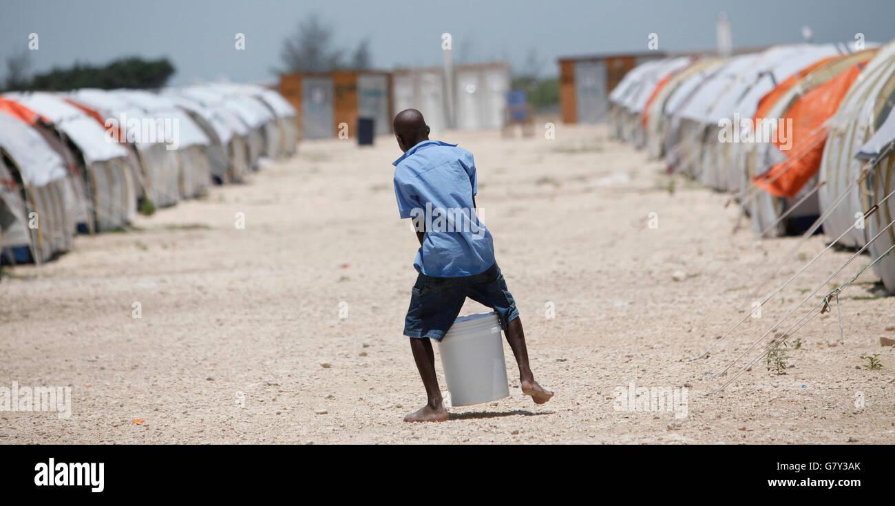 June 27, 2016 - Port-Au-Prince, Florida, U.S. - 061110 (Lannis Waters/The Palm Beach Post) CORAIL, HAITI - A boy - Stock Image