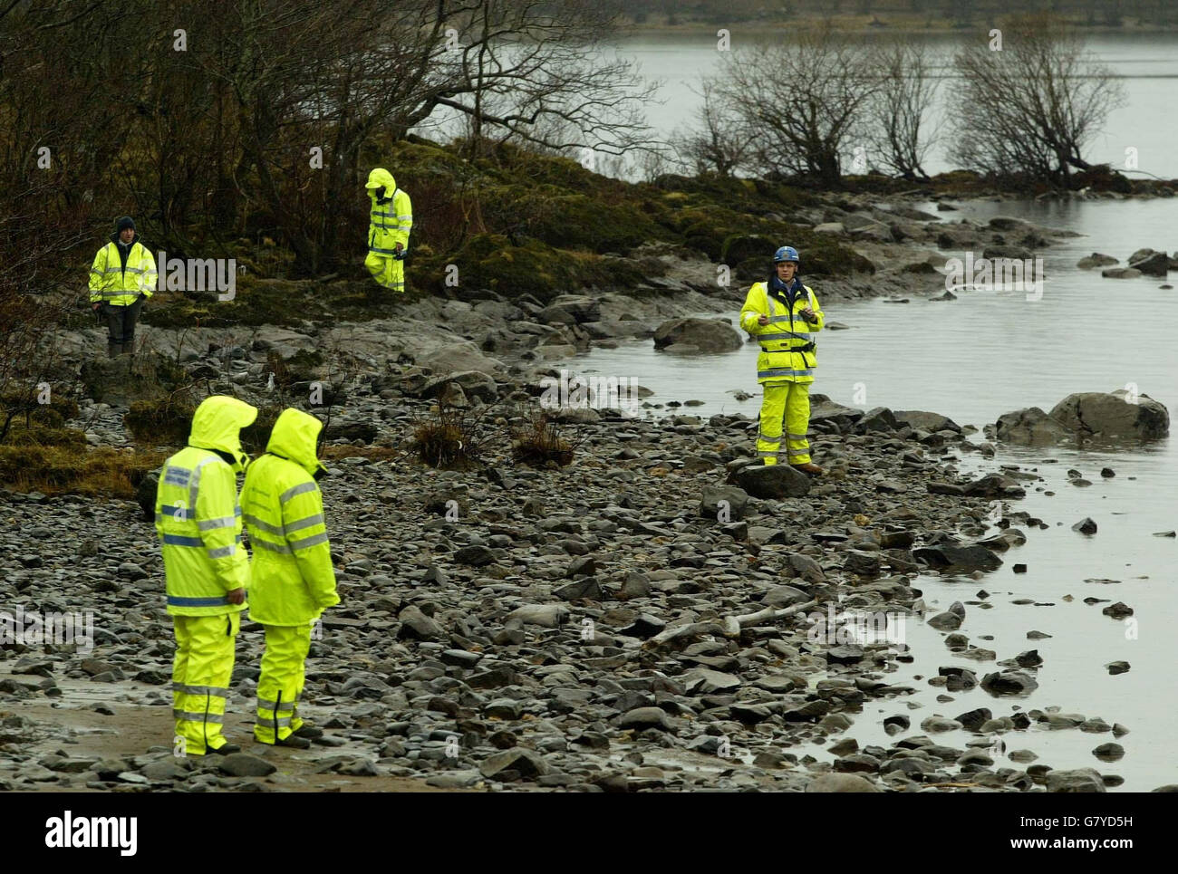 Missing Persons Police Search - Loch Lomond Stock Photo