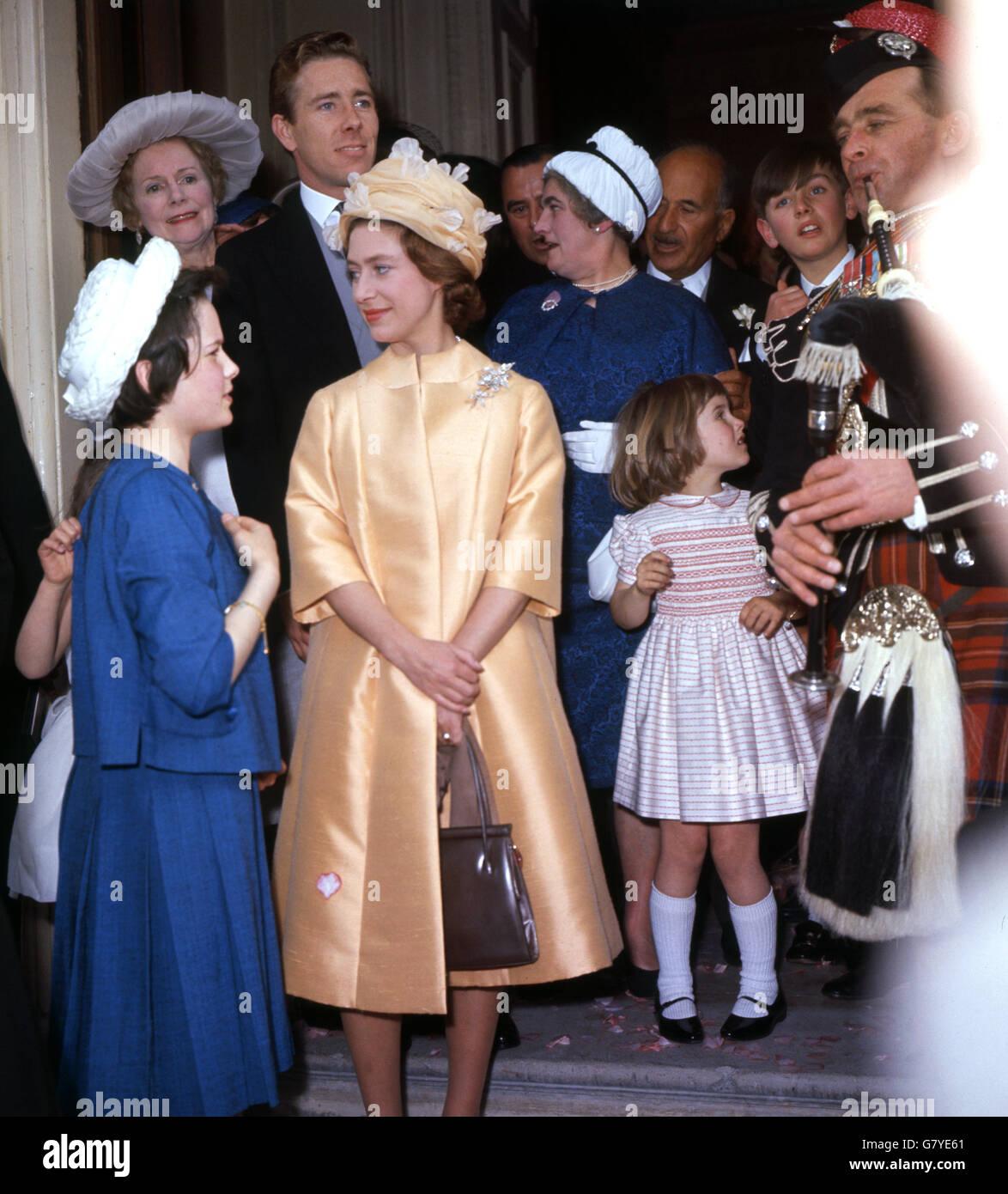 Princess Margaret Wedding High Resolution Stock Photography And