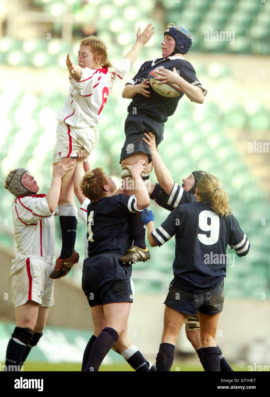 Rugby Union - Womens RBS 6 Nations Championship 2005 - England v Scotland - Twickenham - Stock Image
