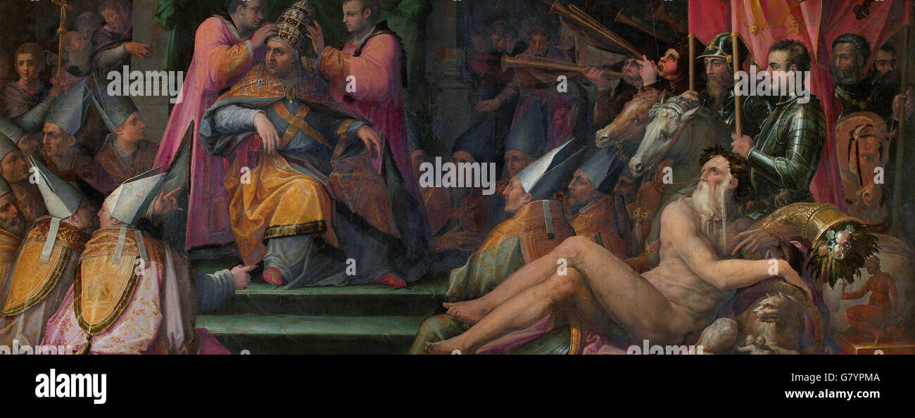 Giorgio Vasari - The election of Giovanni de' Medici to papacy - Stock Image