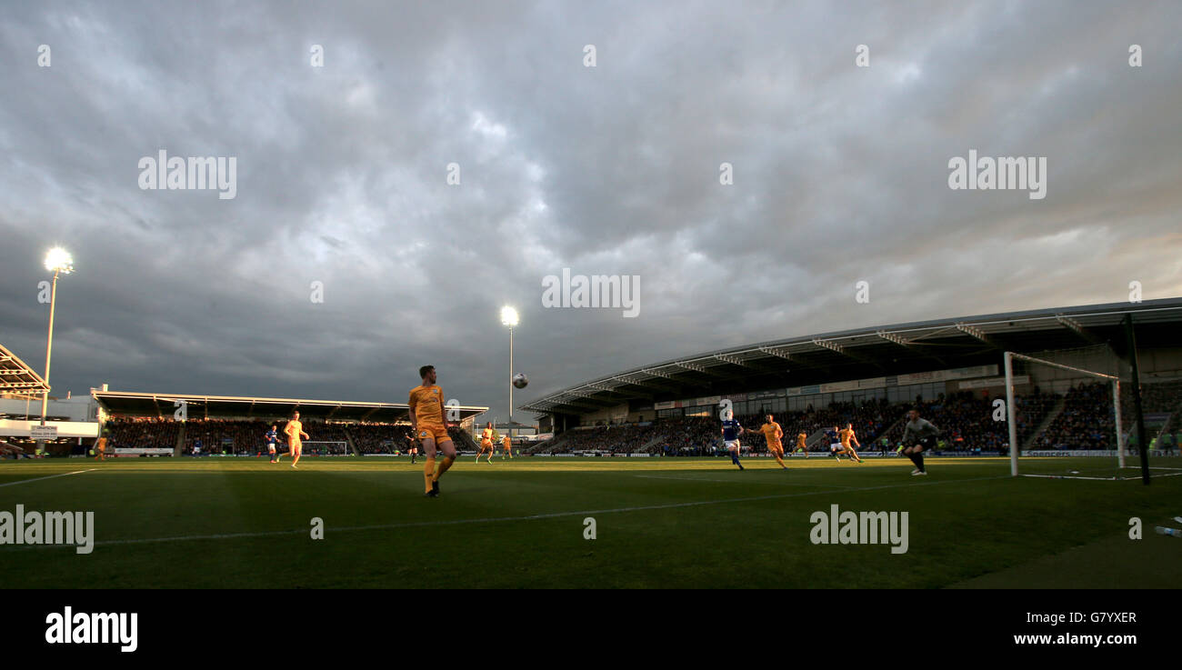 Soccer - Sky Bet League One - Play-Off Semi Final - First Leg - Chesterfield v Preston North End - Proact Stadium - Stock Image