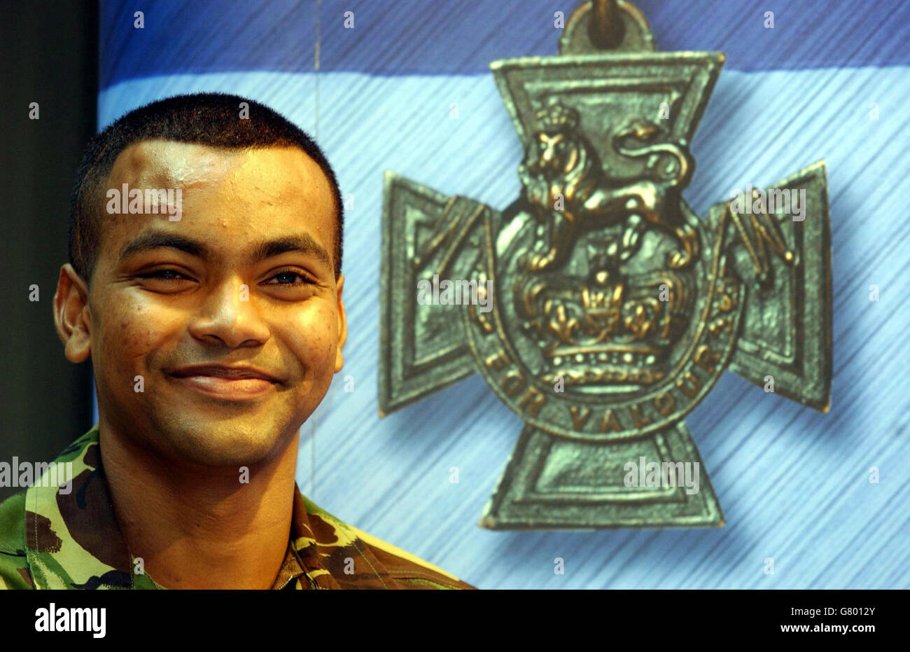 Private Johnson Gideon Beharry - Victoria Cross - Ministry of Defence - Stock Image