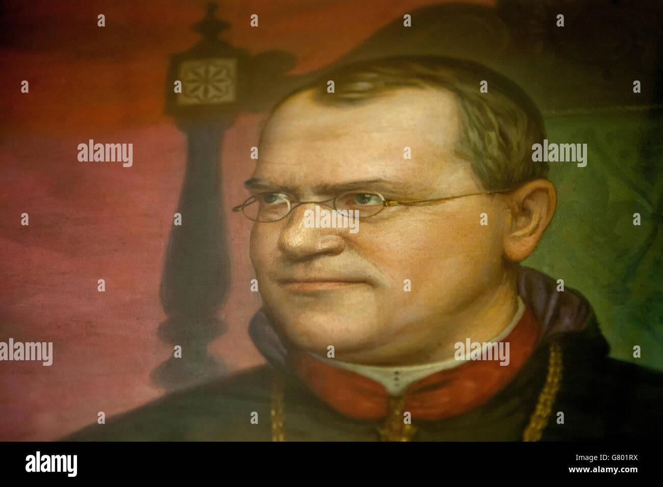 Gregor Johan Mendel portrait (1822-1884) , founder of genetics - Stock Image