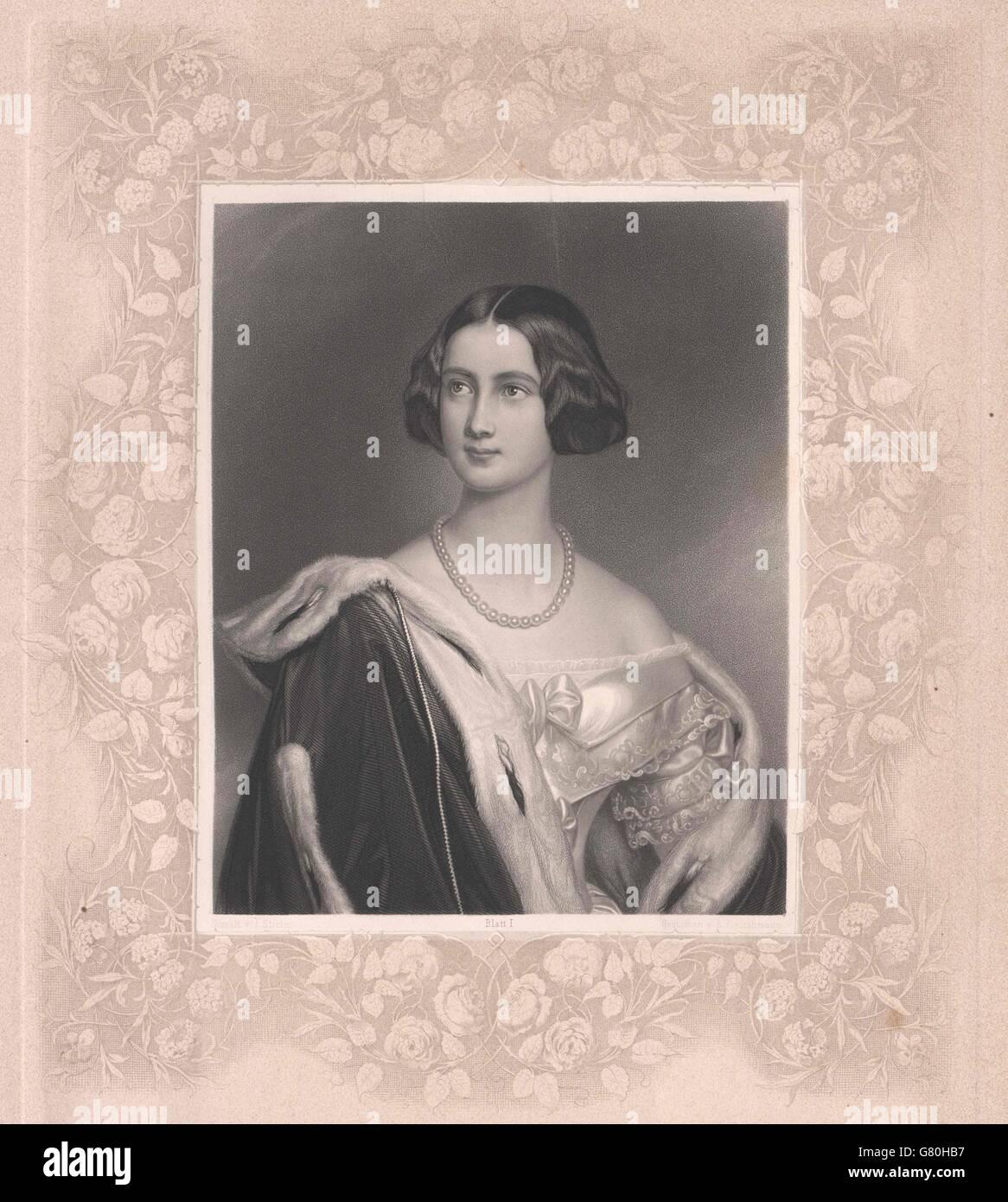 Marie, Prinzessin von Preussen Stock Photo