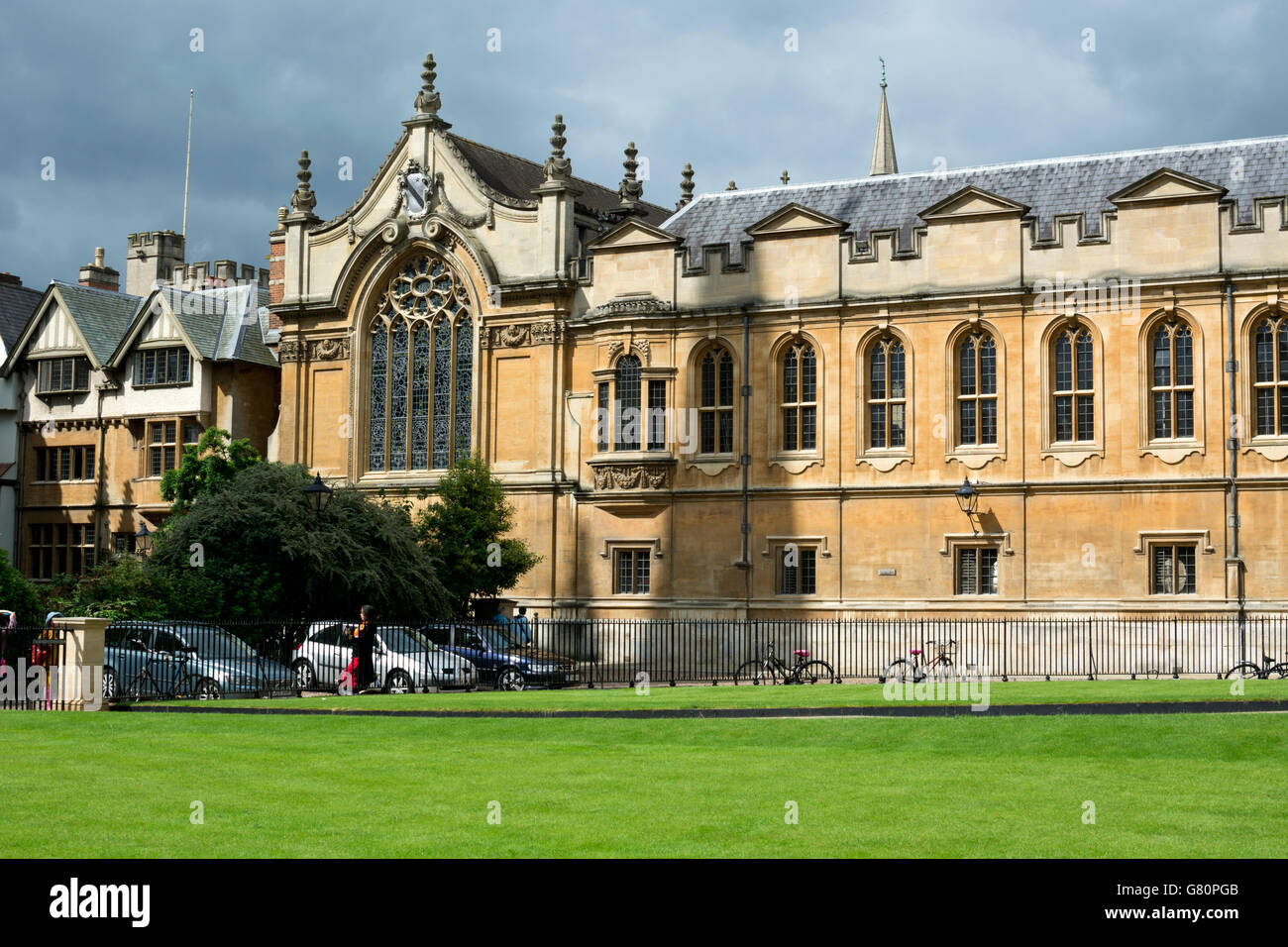 Brasenose College from Radcliffe Square, Oxford, UK - Stock Image