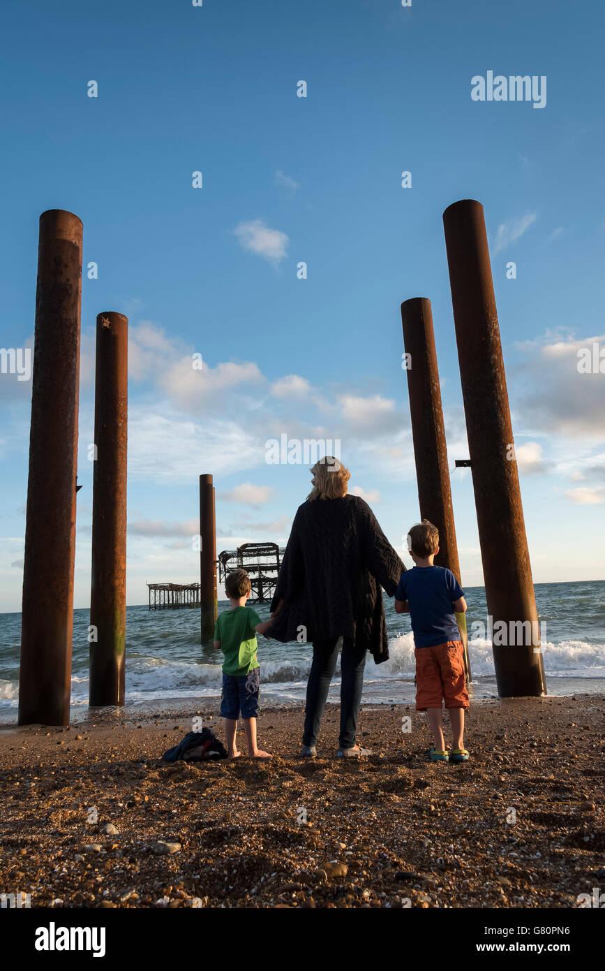 Brighton beach, England - Stock Image