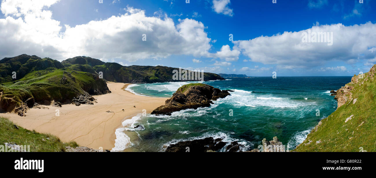 Murder Hole, Rosguill, Donegal ireland - Stock Image