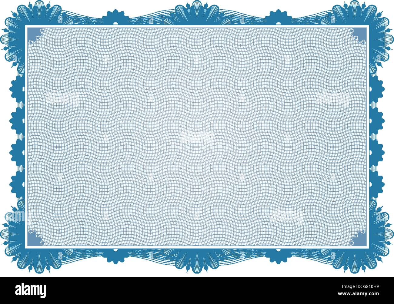A Blue Vector High Detailed Secure Certificate - Stock Vector
