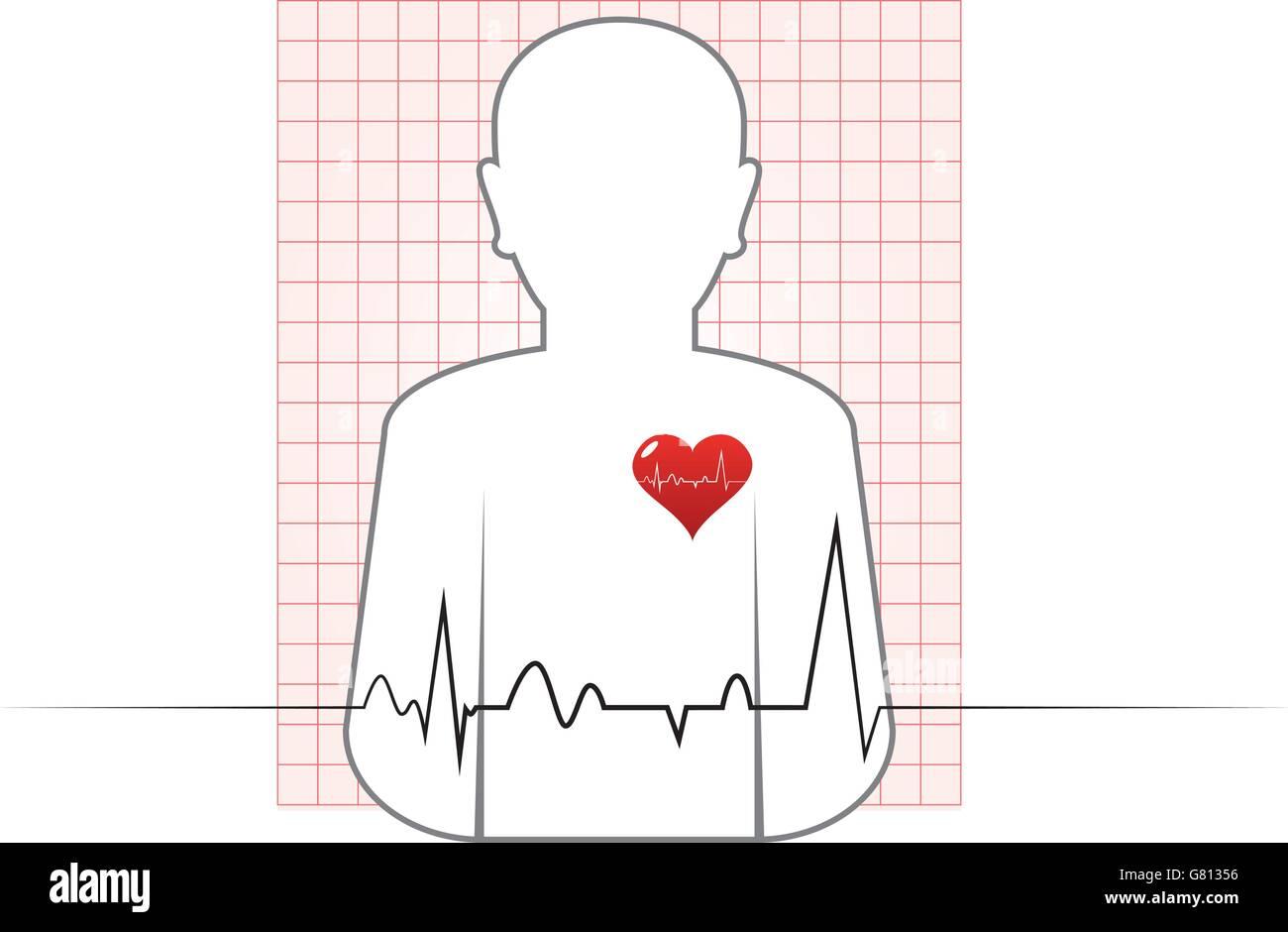 Abstract Vector Human Heart Beat Chart Stock Vector Art