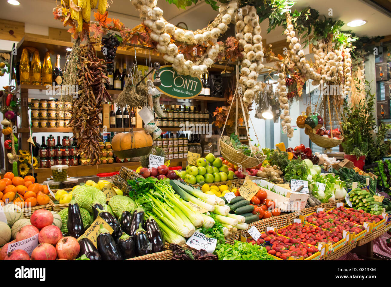 Mercato Centrale (Central market), Florence, Italy - Stock Image