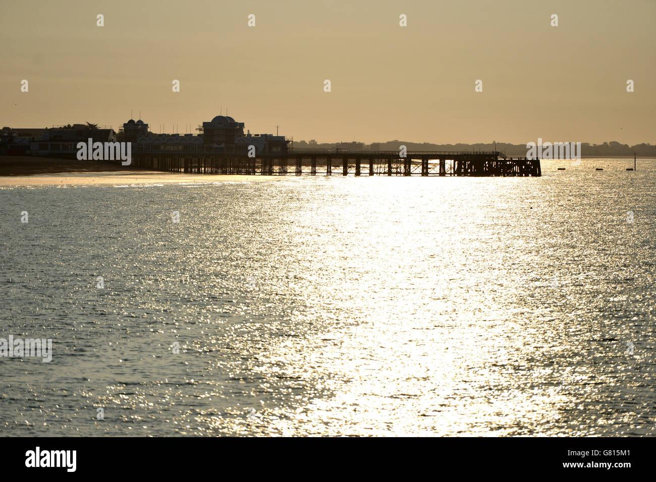 South Parade Pier, Southsea, UK - Stock Image