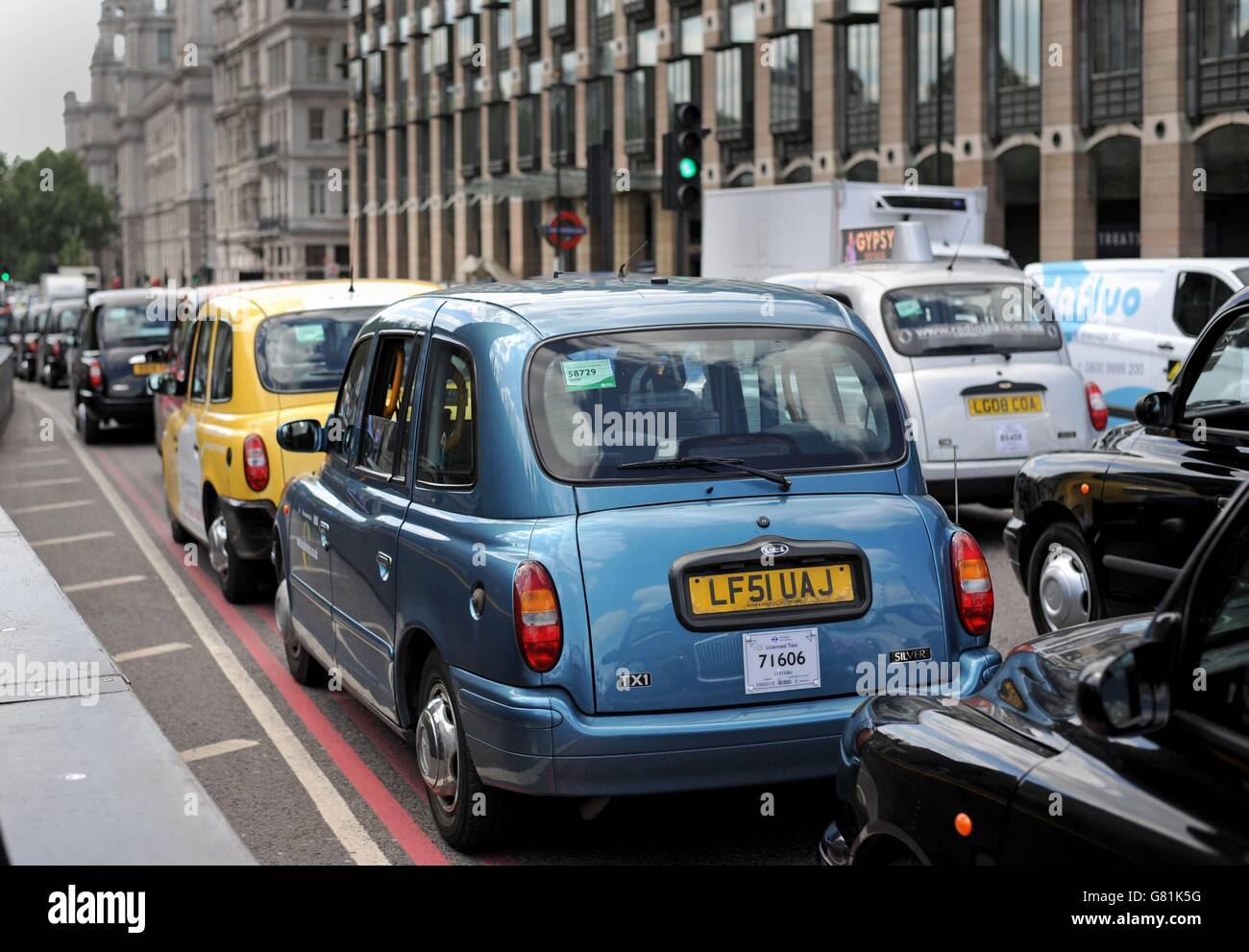 United Cabbies Group protest Stock Photo