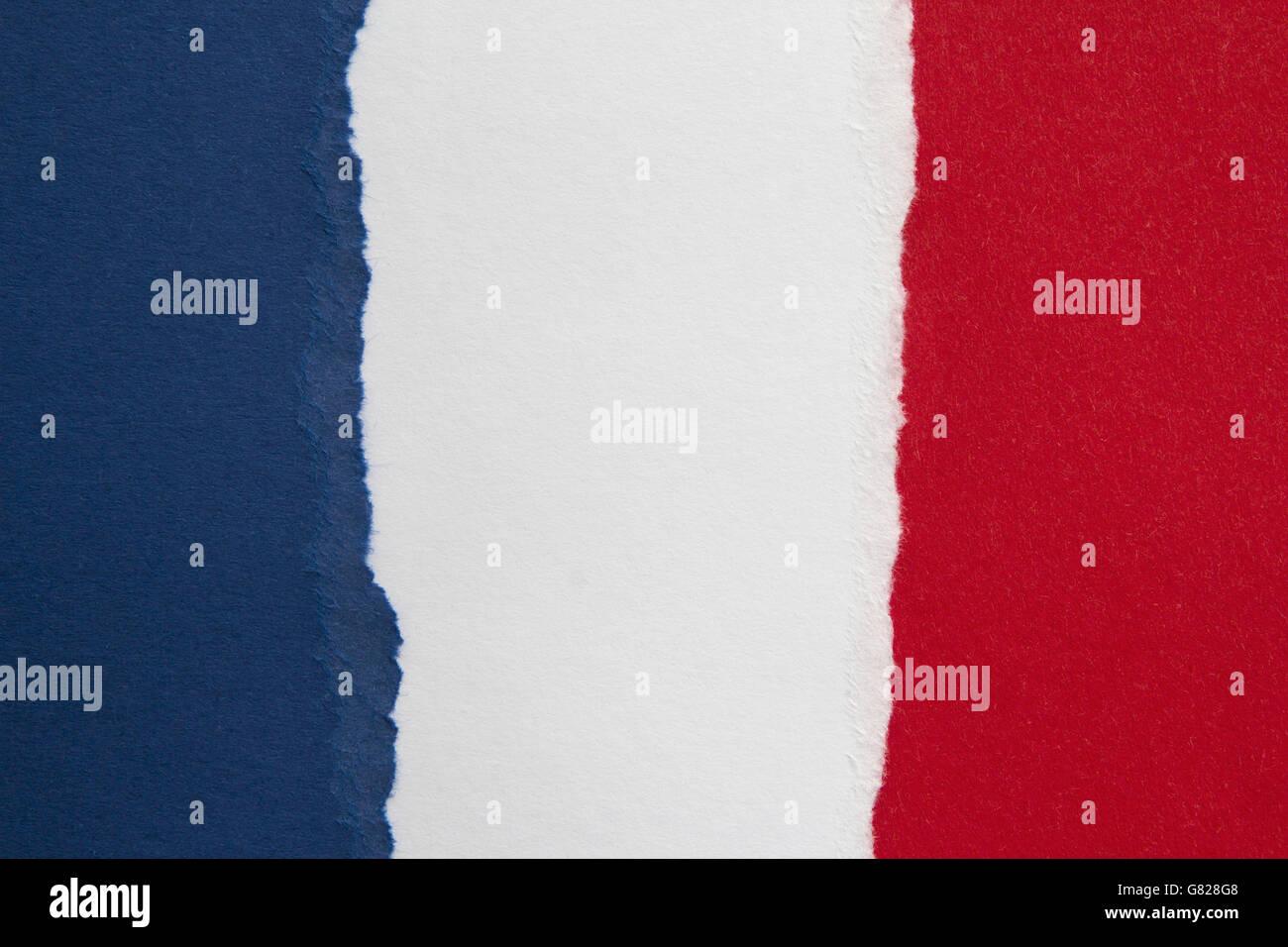 Full frame shot of French flag - Stock Image