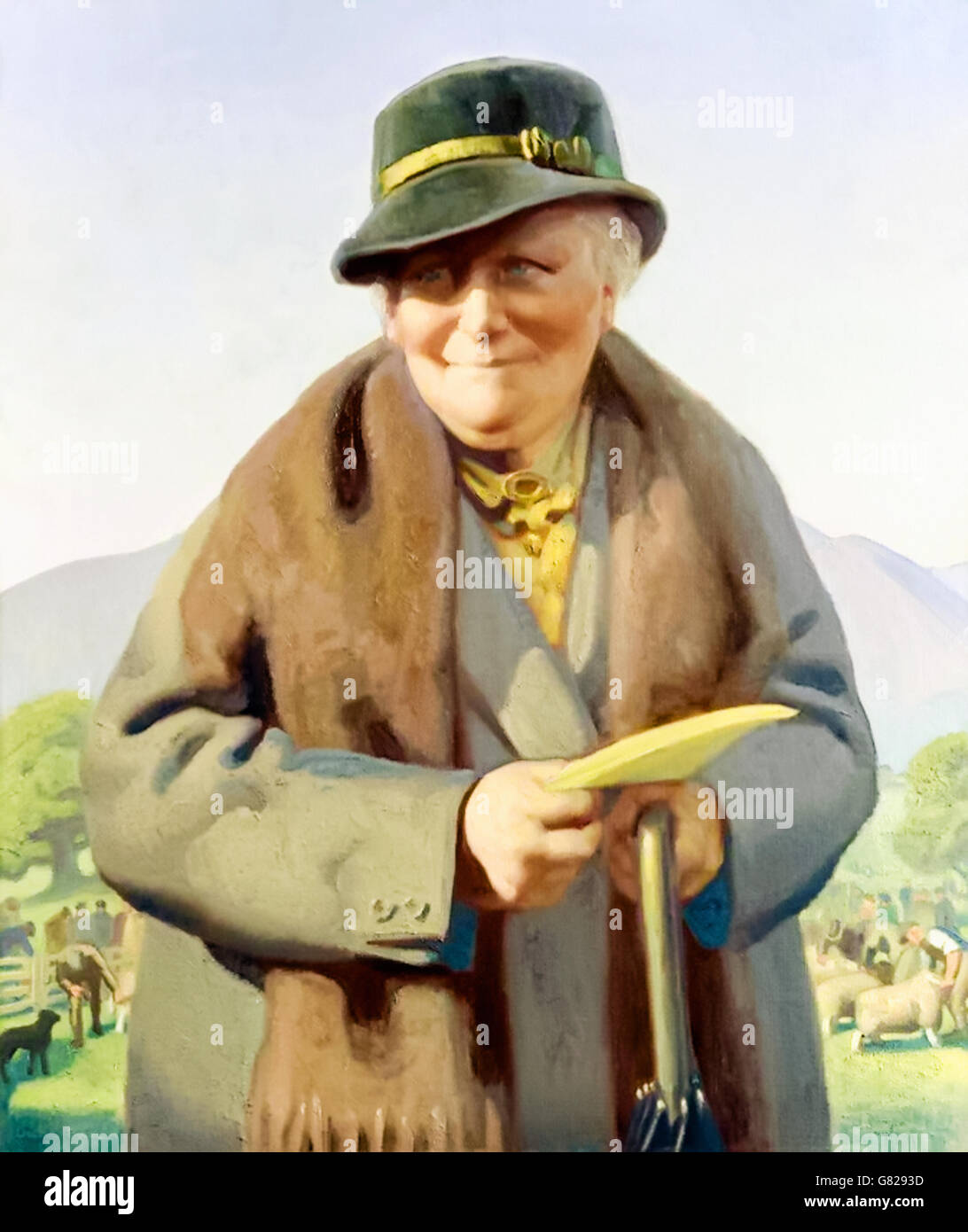 Beatrix Potter (1866-1943) English author and illustrator best known for the best-selling children's classic 'The - Stock Image