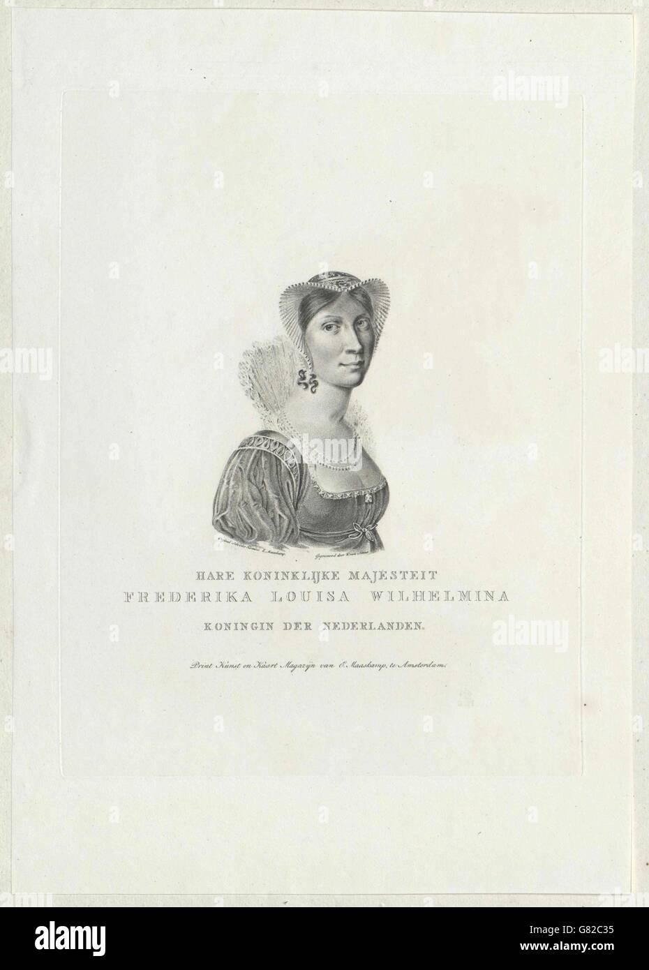 Wilhelmine, Prinzessin von Preußen Stock Photo