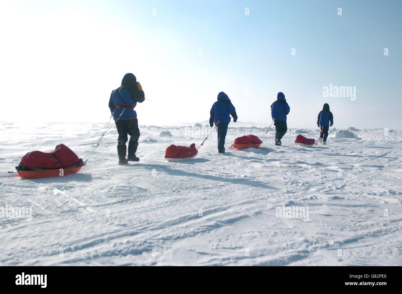Schoolgirl in the Arctic Circle - Stock Image