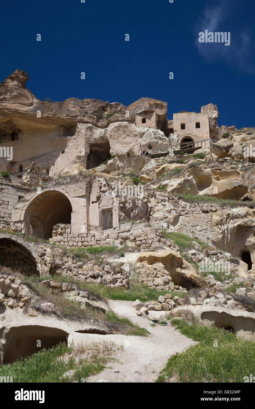 Turkey,Central Anatolia,Cappadocia,Nevsehir Province,Avanos,Cavusin - Stock Image