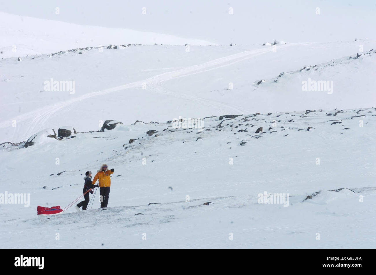Alicia Hempleman-Adams exploration - Pangnirtung - Stock Image