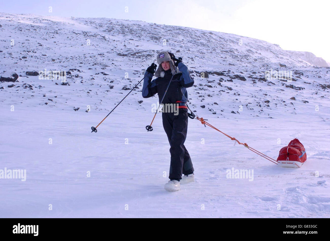 Alicia Hempleman-Adams exploration - Pangnirtung Stock Photo