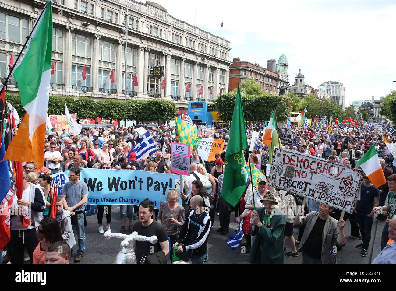 Water charges protest - Stock Image