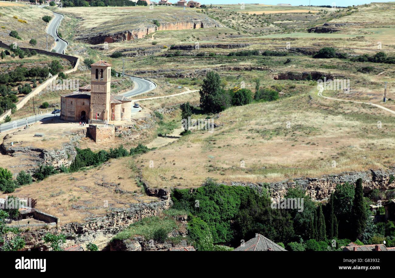 Segovia hinterland seen from the Alcazar - Stock Image