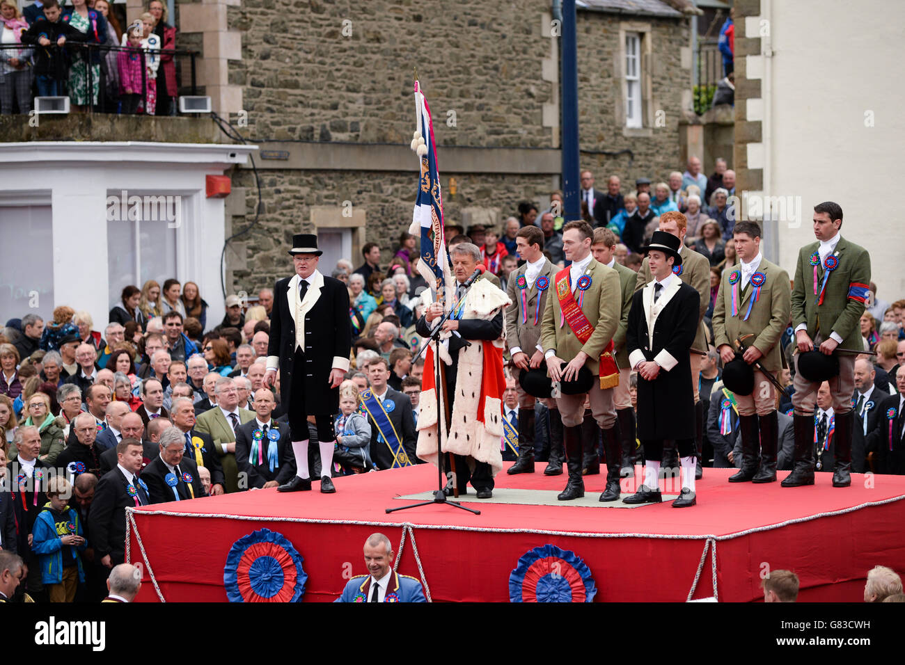The closing ceremony Selkirk Common Riding - Stock Image