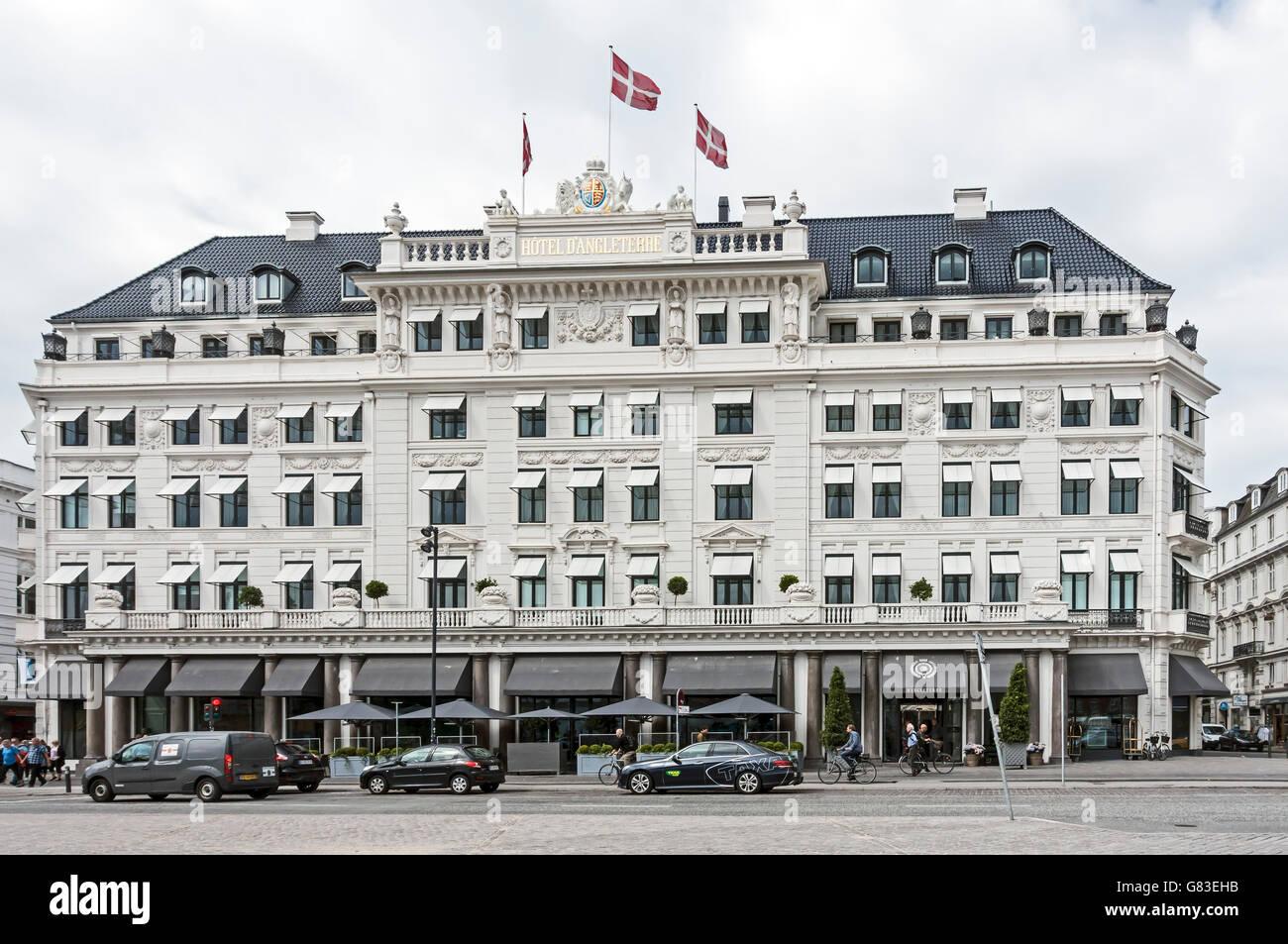 Hotel D'Angleterre Kongens Nytorv Copenhagen Denmark - Stock Image