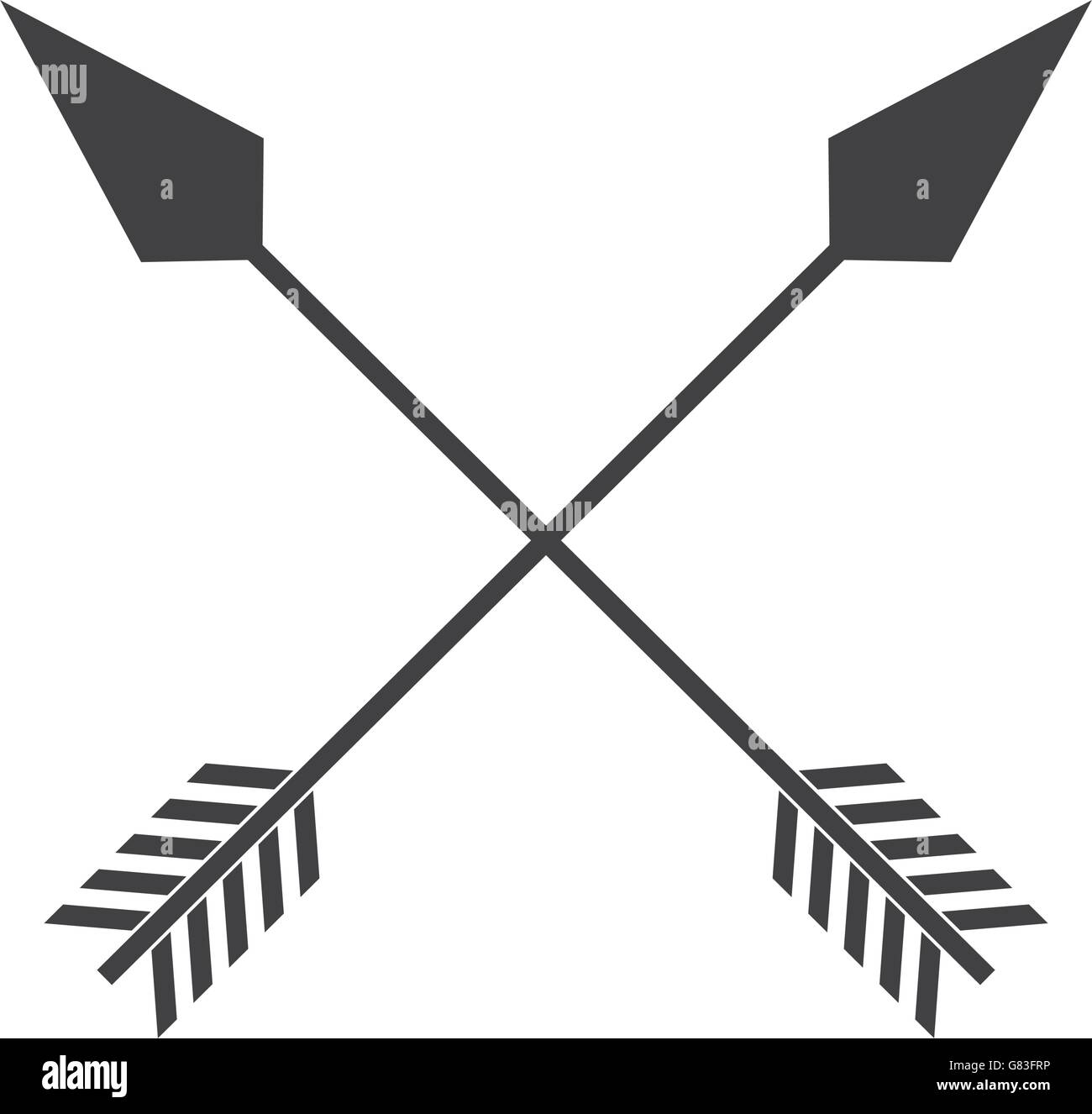 Indian Arrow Cross Isolated Icon Design Stock Vector Art