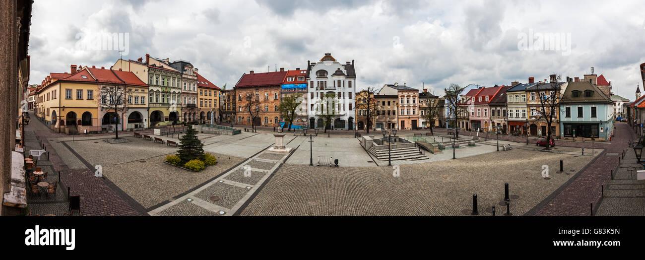 Main Square in Bielsko-Biala - Stock Image