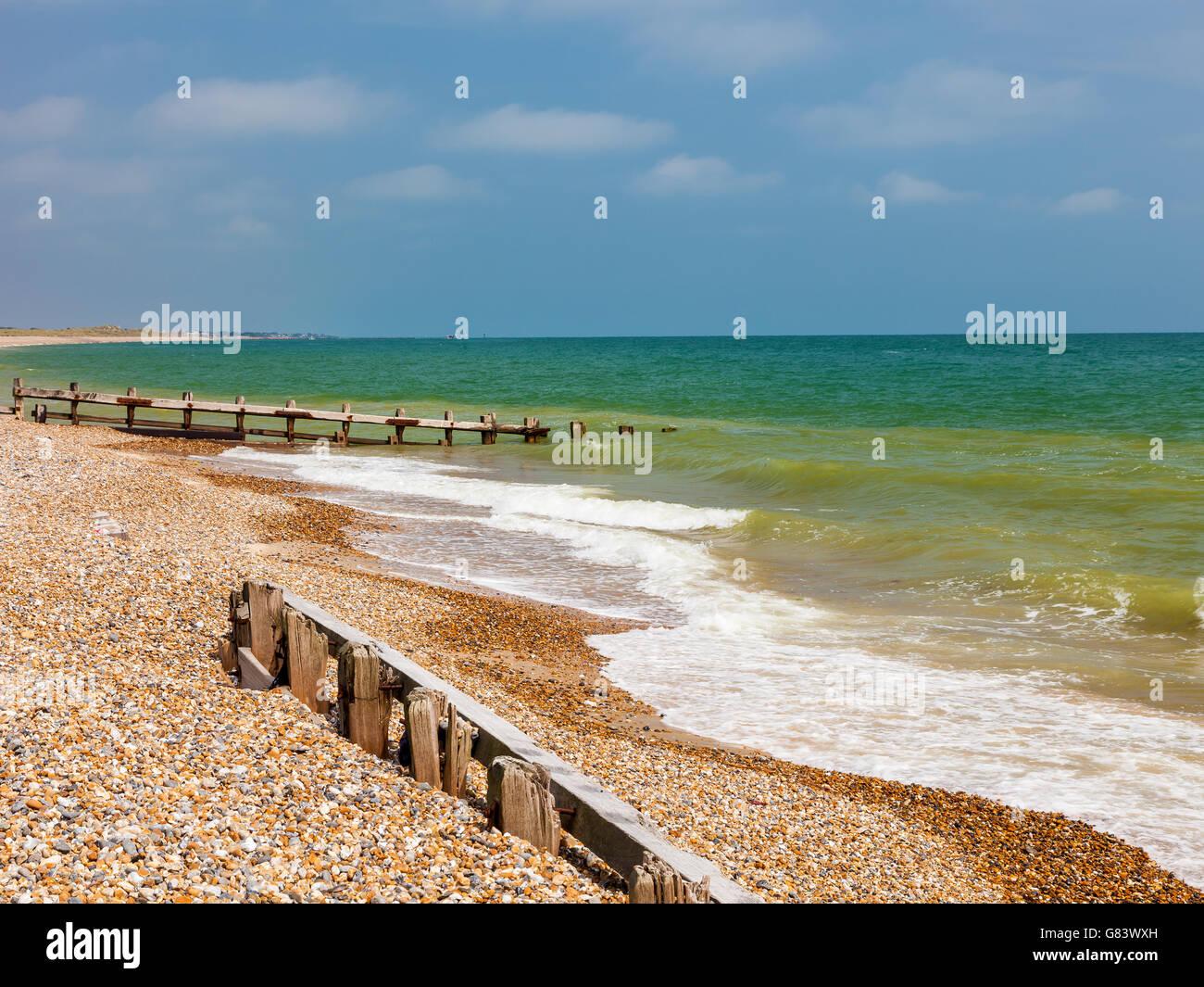 Climping Beach or Atherington a Shingle beach near Littlehampton  West Sussex England UK Europe - Stock Image