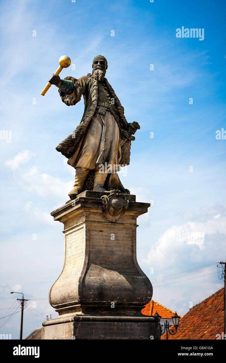 Tykocin, Stefan Czarniecki monument at the Market Square Stock Photo