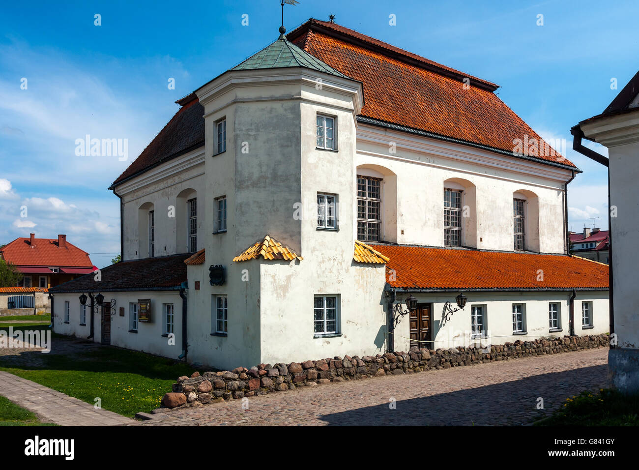 Orthodox Synagogue in Town of Tykocin Stock Photo