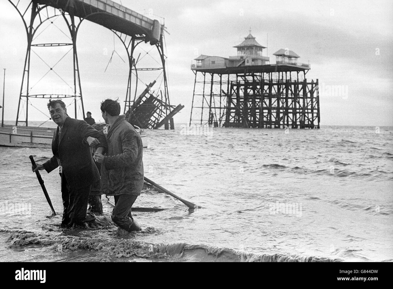 Clevedon Pier Collapse - Somerset - Stock Image