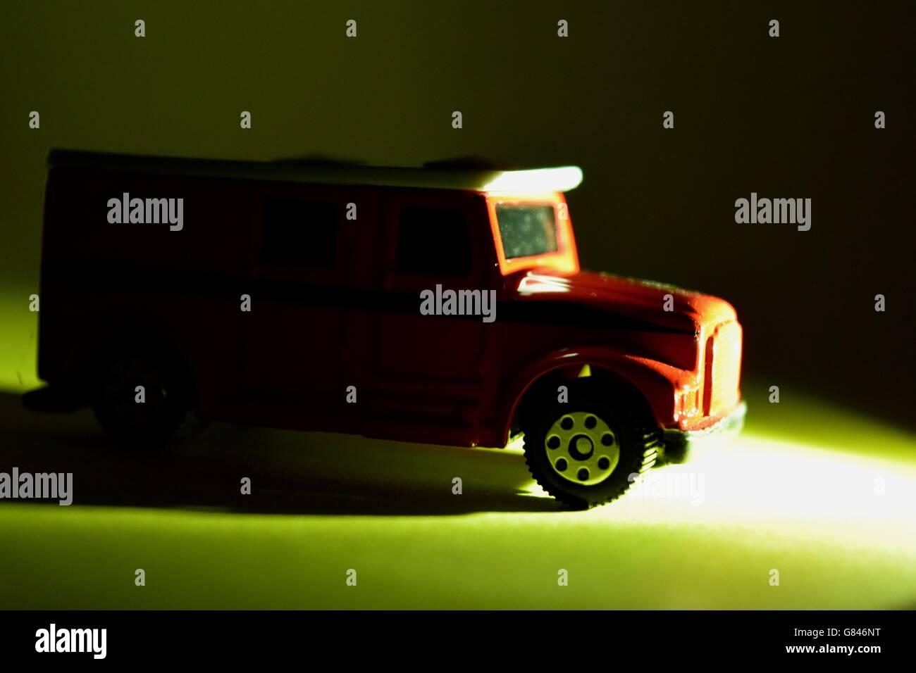 Plain Background, Bus, Red, Souvenir, Single Object, Toy, Double Decker Bus, British Culture, Colour Image, Model, - Stock Image