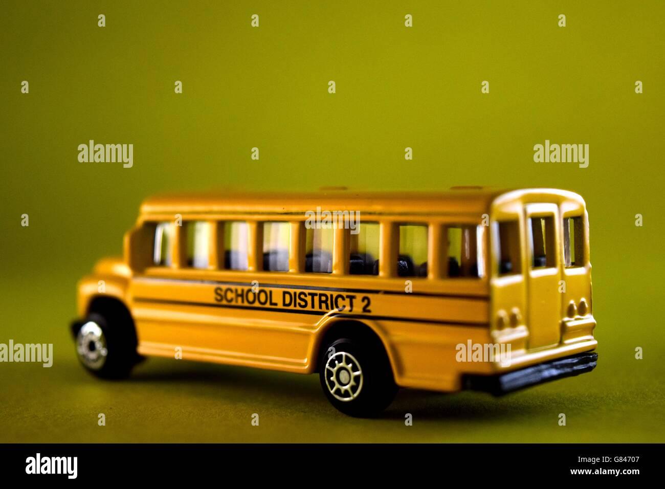 yellow bus school bus,Plain Background, Bus, Red, Souvenir, Single Object, Toy, Double Decker Bus, British Culture, - Stock Image