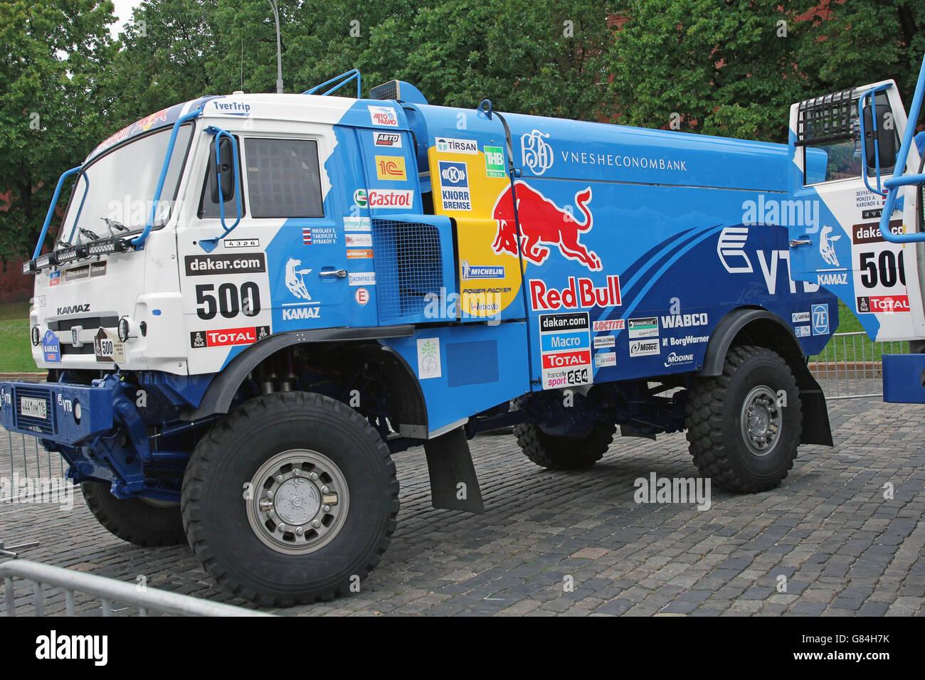 Hood KAMAZ - sports modification for participation in rally Paris - Dakar