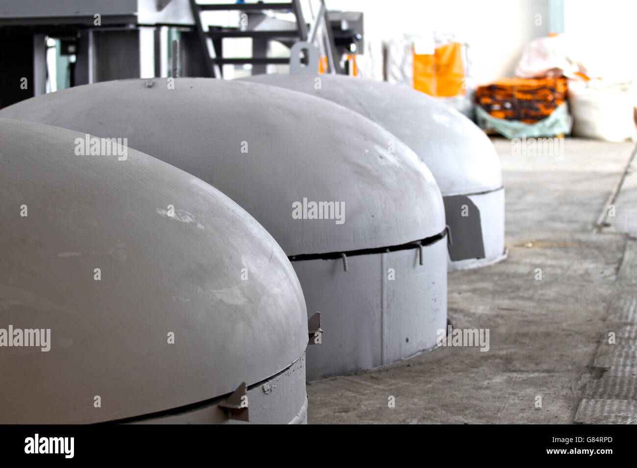 visible part of the capacity for heat treatment of metal - Stock Image