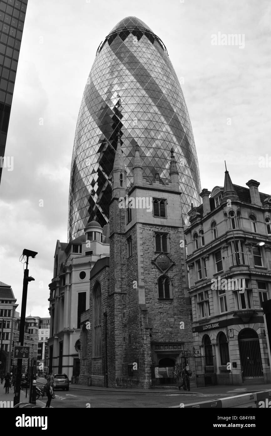 The Old and the New in the Square Mile - Stock Image