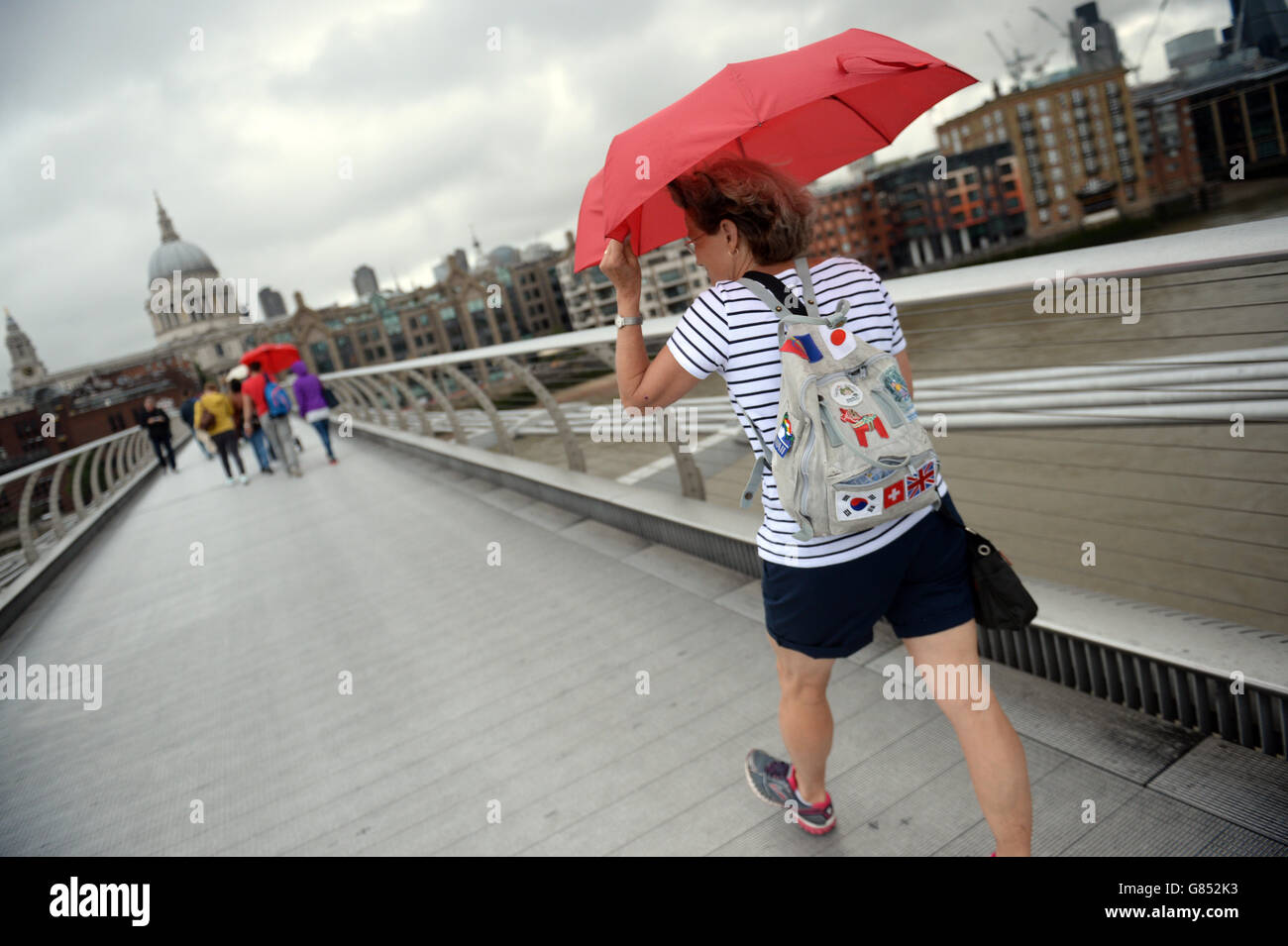 Summer weather July 15th 2015 Stock Photo