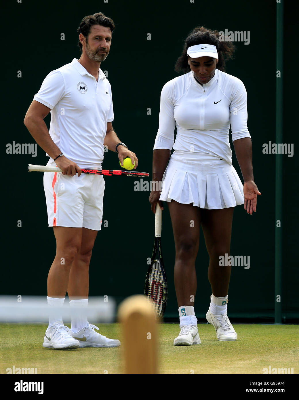 Serena Williams And Patrick Mouratoglou Stock Photos and Images