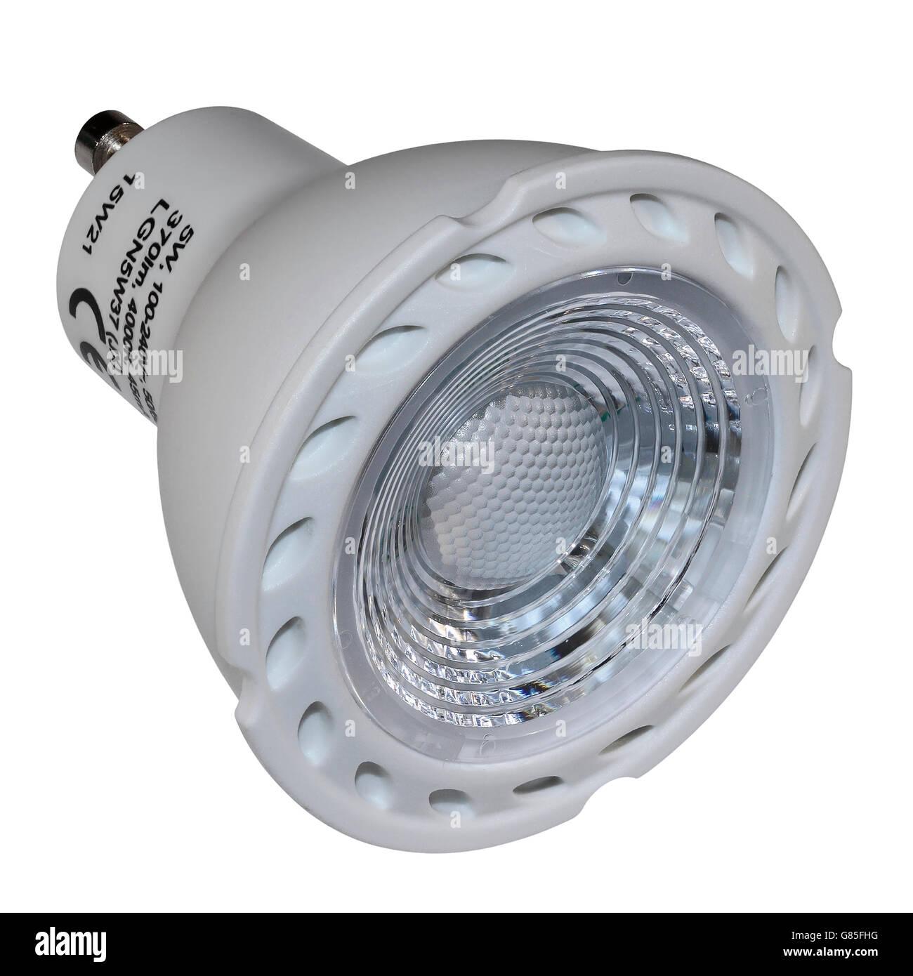 GU10 LED Electric Light Bulb - Stock Image