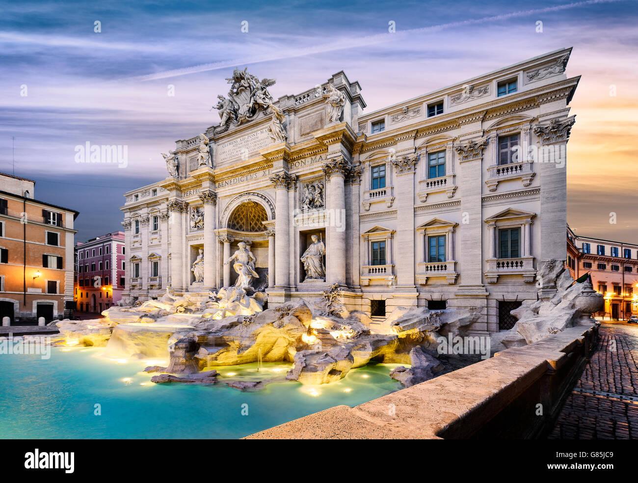 Fountain di Trevi in Rome, Italy - Stock Image