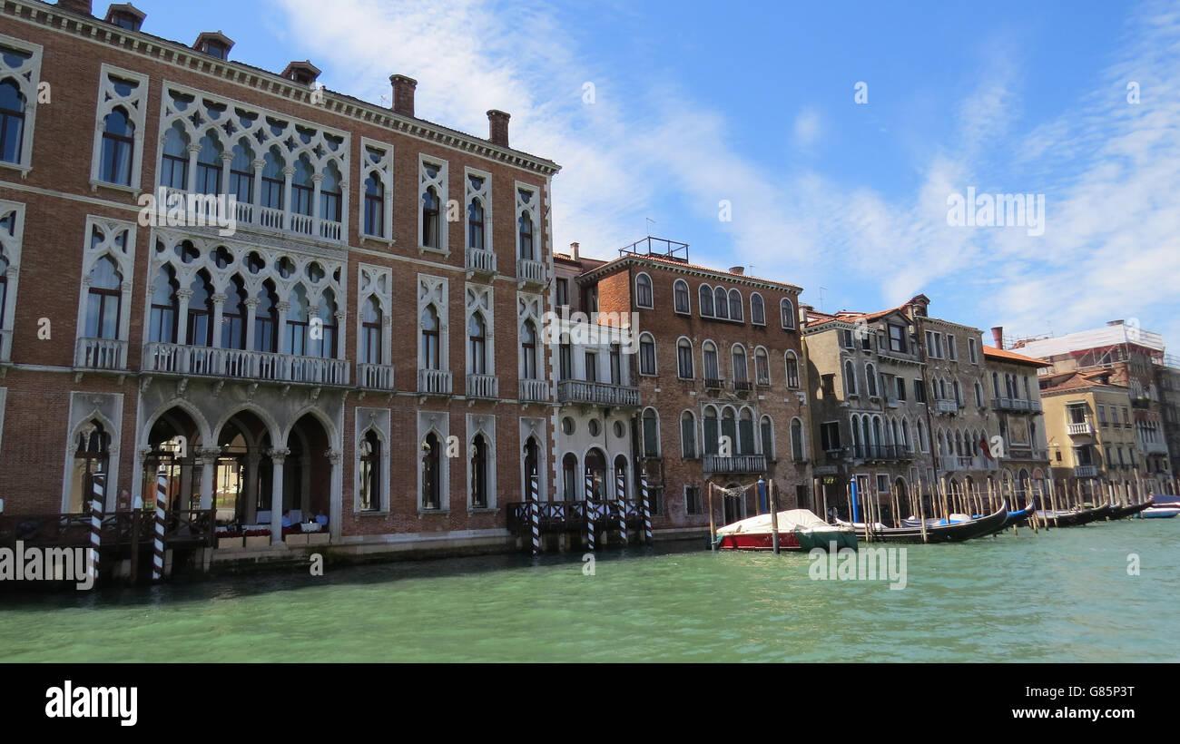 VENICE, Italy,  Palazzo Bernardo a San Polo on the Grand Canal. Photo Tony Gale - Stock Image