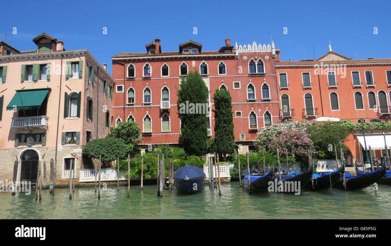 VENICE, Italy, 14th century buildings along the Grand Canal. Photo Tony Gale Stock Photo