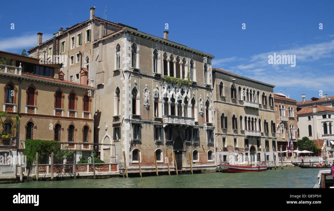 VENICE, Italy, Palazzo Bernardo a San Polo facing the Grand Canal. Photo Tony Gale - Stock Image