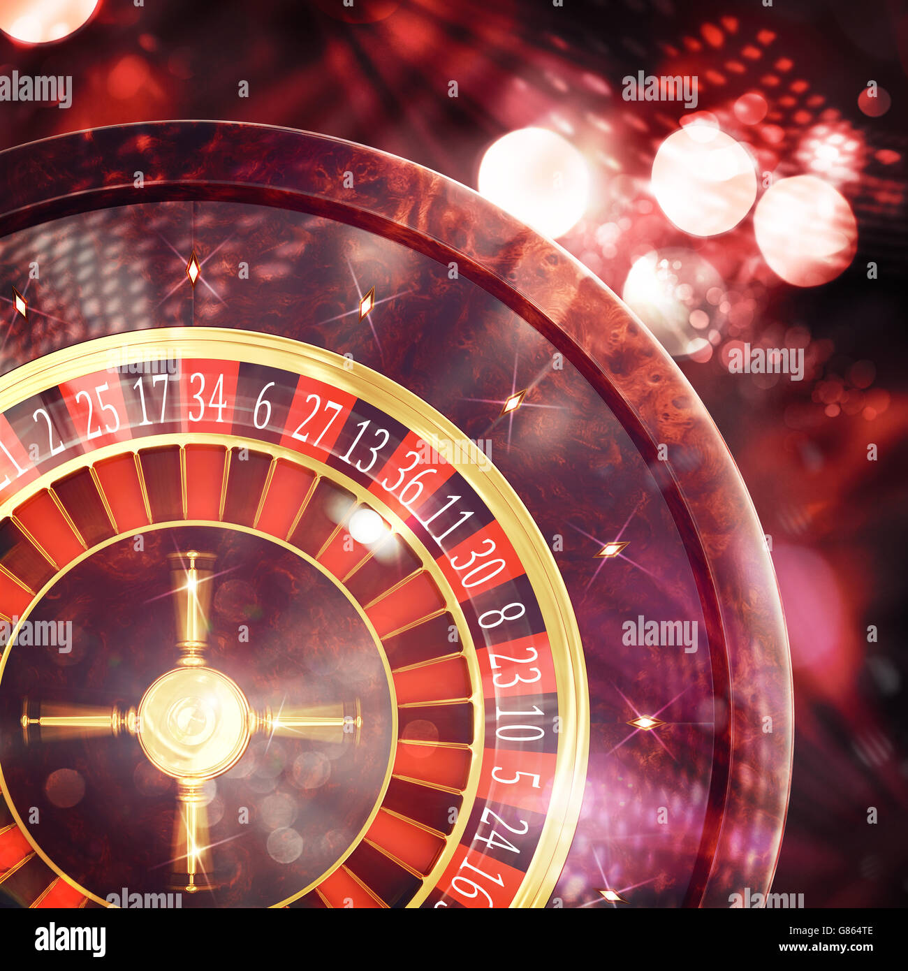 3D Rendering of casino roulette - Stock Image