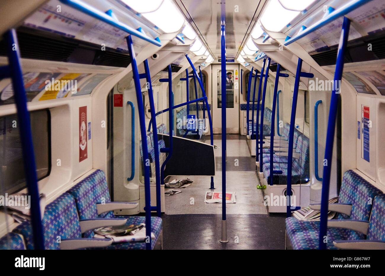 Tube strike - Stock Image